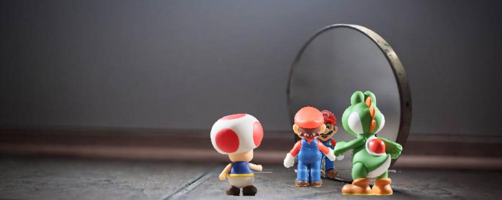 Cuando el jugador se refleja en el espejo llamado videojuego