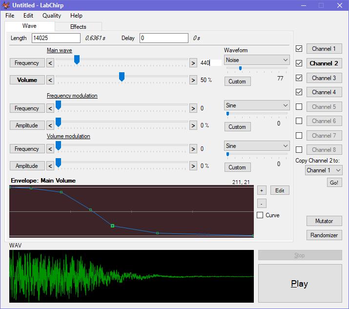 LabChirp - A Free and versatile sound effects generator - Daniel